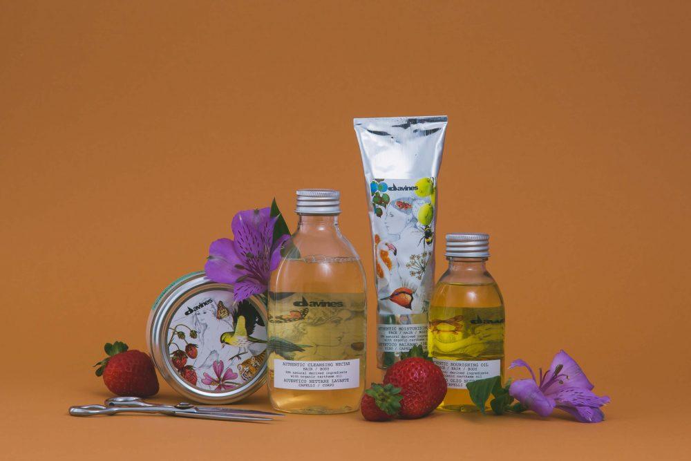 """"""" Davines - Authentic Formulas"""" prodotti fino al 100% naturali per capelli, viso e corpo."""